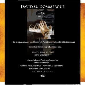 Concierto del pianista David Dommergue en Edifici Miramar de Sitges